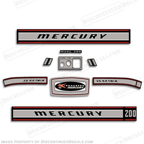 mercury boat engine decals mercury 1969 20hp outboard engine decals
