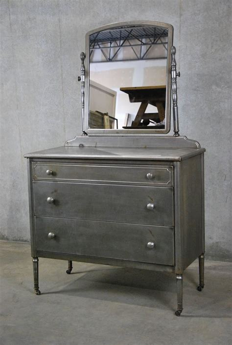 metal dressers bedroom furniture 1930 simmons metal low boy dresser at 1stdibs