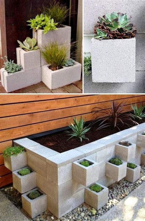 Cinder Block Garden Ideas Creative Garden Container Ideas Use Cinder Blocks As Planters S Scapes Pinterest Gardens