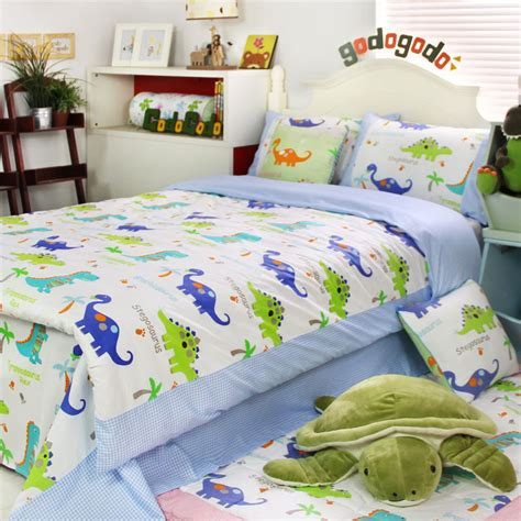 Colorful Mart Dinosaur Homes Blue Dinosaur Bedding Set Dinosaur Bedding