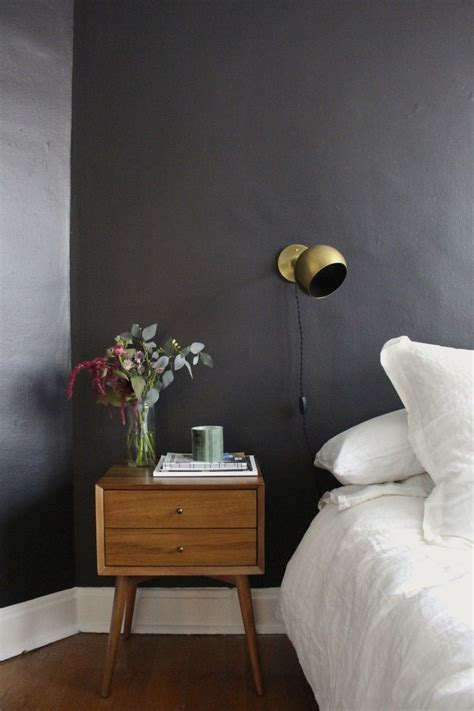 black walls in bedroom dark bedroom colors come alive with white and grey accents