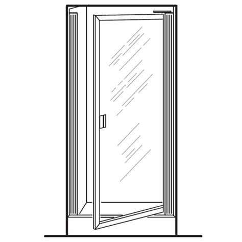 Standard Shower Door Width American Standard Am00801 400 Clear Glass Prestige Framed Pivot Shower Doors Fits 24 1 4 To 26
