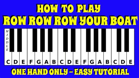 row your boat easy piano how to play row row row your boat on the keyboard piano