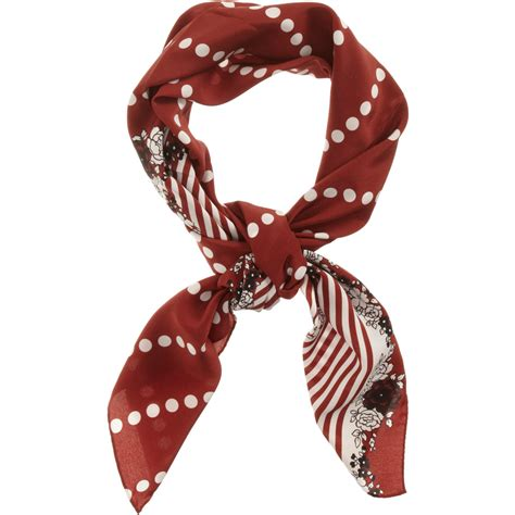 Polka Dot Scarf marni polka dot scarf in floral lyst
