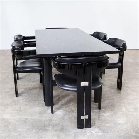 80s Le Corbusier Lc6n Nr 47905 Dining Table For Cassina Lecornu Dining Tables