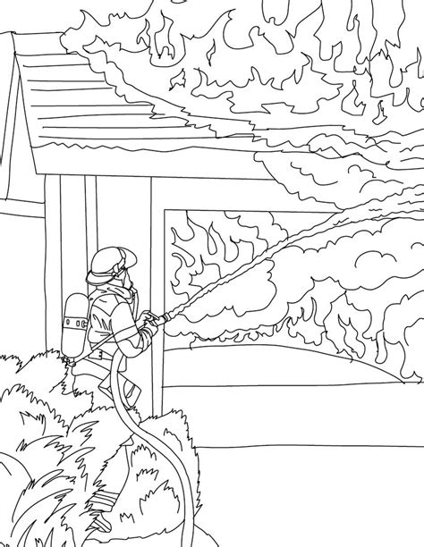 30 firefighter coloring pages coloringstar
