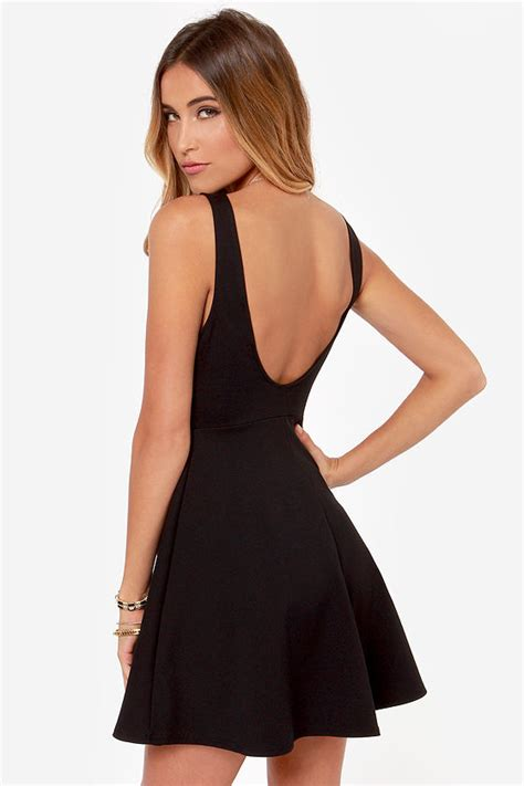 Black V Sexydress black dress black dress skater dress