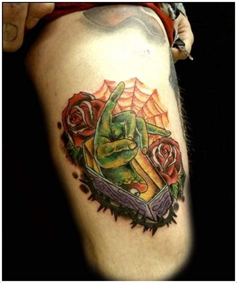 strange tattoo designs coffin designs 4