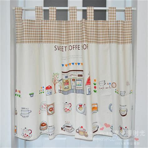 Cotton Kitchen Curtains Cotton Curtains Kitchen Linen Coffee Half Curtain Cut Curtain In Curtains From