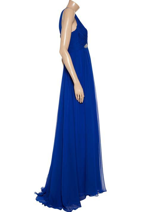 Marchesa Silk Chiffon Gown by Notte By Marchesa Embellished Silk Chiffon Gown In Blue Lyst