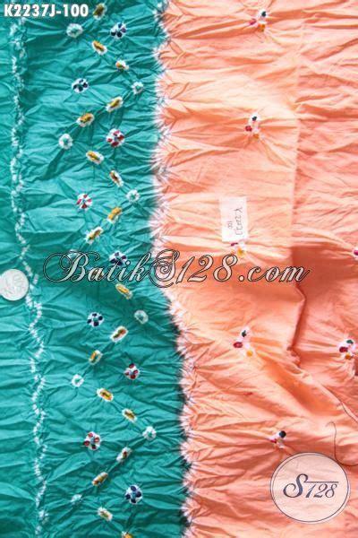 Kain Batik Halus Motif Cendrawasih Orange Bahan Batik Promo kain batik jumputan kombinasi warna hijau orange dengan