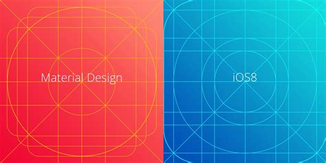 layout grid ios material design and ios8 icon grid