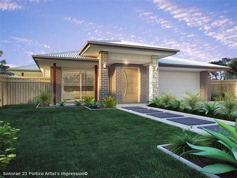 sonoran 23 hip portico design detail and floor plan integrity new homes whitsundays