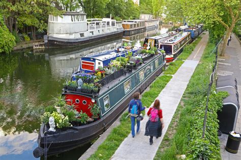 living on a boat in venice boats in little venice london editorial photo image of