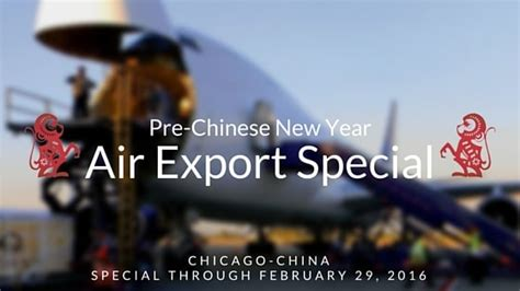 new year air freight export special from chicago