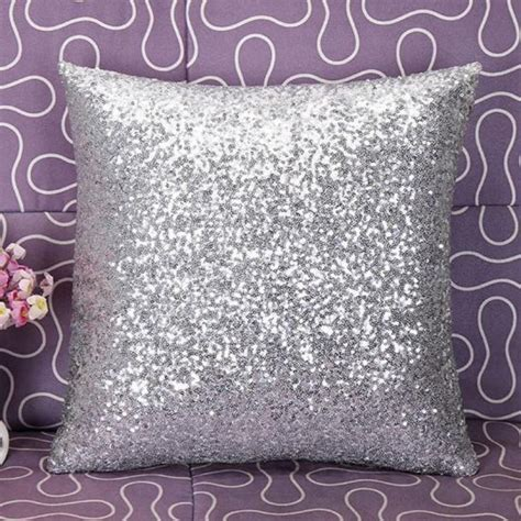 home decor dropship new qualified solid color glitter sequins throw cafe home