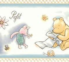 classic pooh wallpaper border details about classic winnie the pooh blue wallpaper