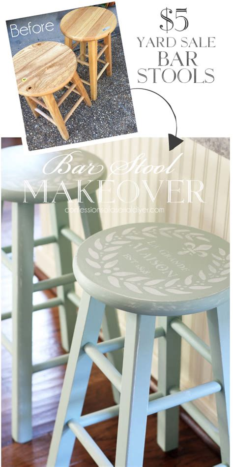 how to paint a bar stool 25 thrifty furniture makeovers confessions of a serial