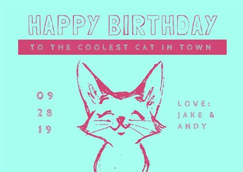 Cool Birthday Card Templates by Birthday Card Templates Canva