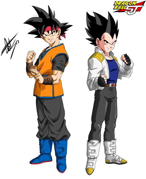 imagenes de goku jr ssj4 goku jr and vegeta jr dragon ball shin jidai by
