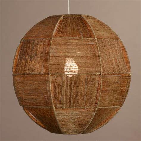moderner speisesaal light basket weave orb jute fiber pendant l world market