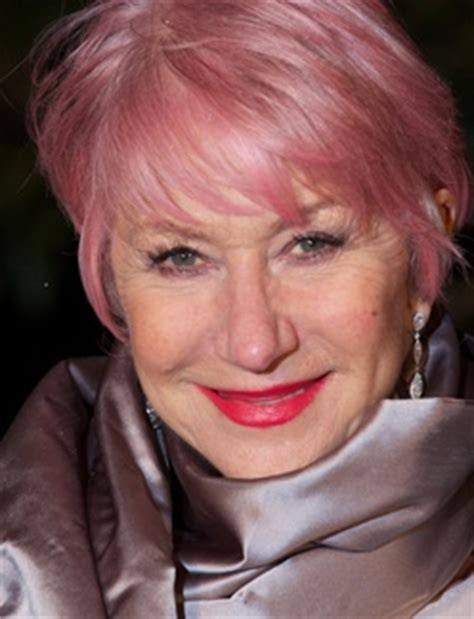 old woman pink hair helen mirren with pink hair women to be admired pinterest