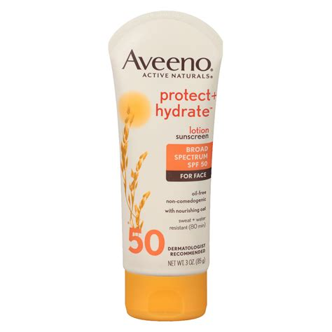 8 Best Sunscreens For The Ultimate Protection by Aveeno Active Naturals Protect Hydrate For Spf 50