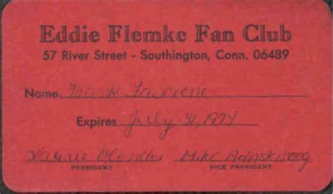 Tsukiuta Fan Club Card eddie flemke fan club membership cards from 1974 and 1976 note that mike adaskaveg a noted