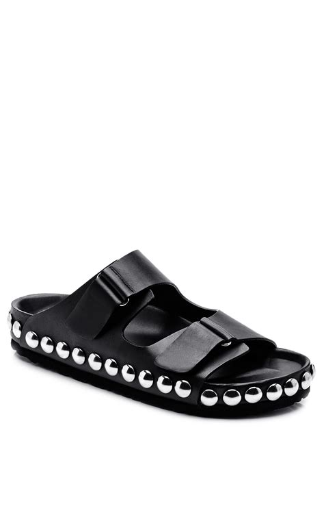 New Sandal Ala Birken Black giambattista valli birken sandals in black leather with