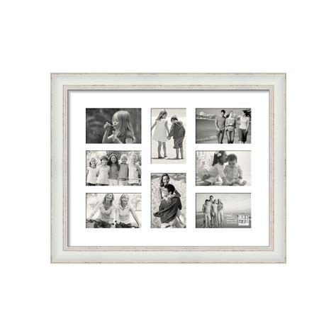 sixtrees shabby chic white multi aperture photo frame photo frames albums frames
