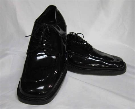 mens formal after six black square toe tuxedo shoe prom