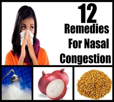 12 home remedies for nasal congestion home remedies