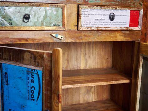 credenze in offerta credenza workshop vintage legno riciclato prezzi on line