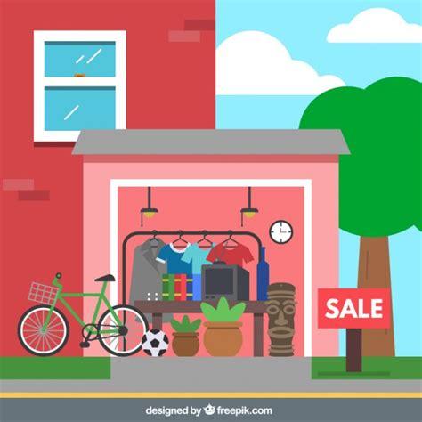 ventas de garaje venta en garaje descargar vectores gratis