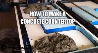 a concrete countertop with sink complete steps