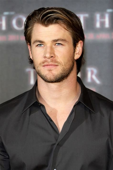 men longish hair chris hemsworth 29 the star of thor wearing the classic