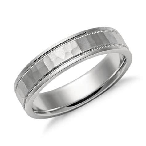 comfort ring milgrain comfort fit wedding ring in platinum 6mm blue