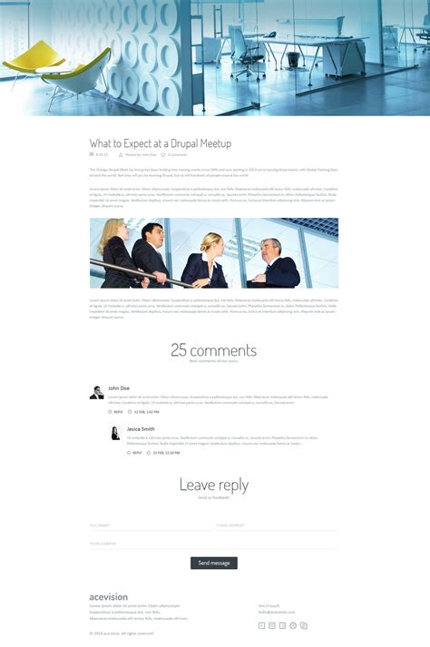 themeforest one page html template acevision one page html template by visionroom themeforest