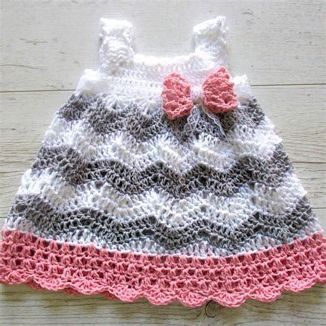 baby girl crochet dress patterns chevron baby dress crochet pattern crochet square baby dress