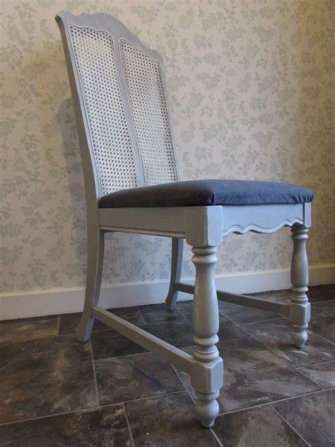 elegant grey shabby chic wicker back chair by love2furnish