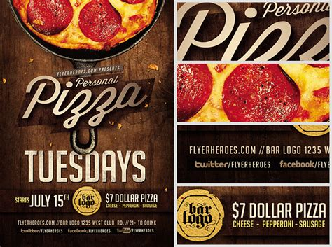 pizza flyer template free pizza tuesdays flyer template flyerheroes