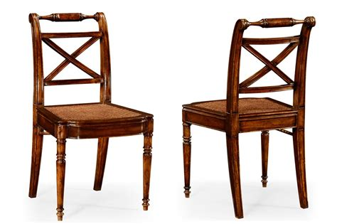 dining room end chairs solid walnut antique reproduction cane seat dining chair