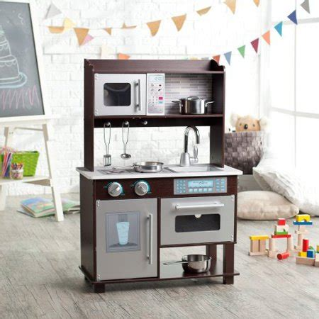 Kidkraft Espresso Toddler Kitchen Brown by Kidkraft Espresso Toddler Play Kitchen With Metal