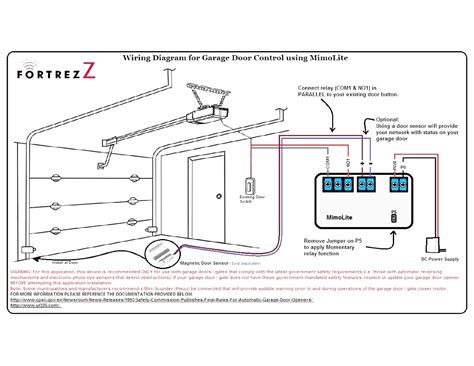 wiring diagram for liftmaster garage door opener to with