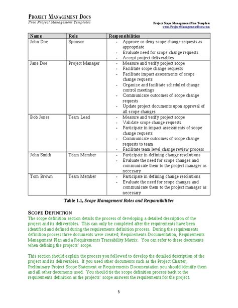 scope management plan hashdoc
