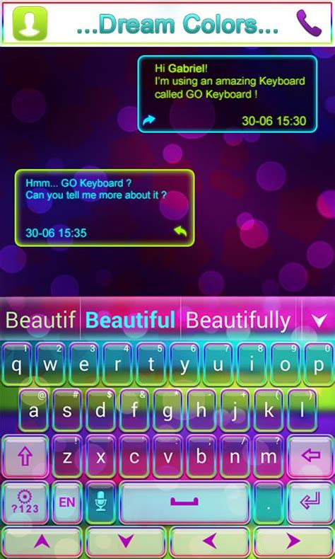 themes and keyboard dream colors go keyboard theme android apps on google play