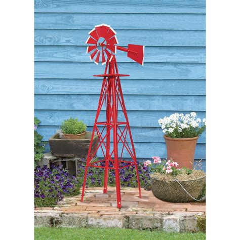 Garden Windmill by 4ft Ornamental Garden Windmill With White Tips