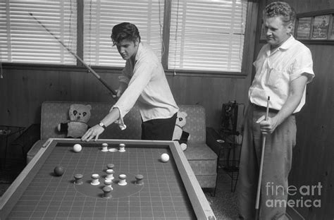 Metal House Plans elvis presley and vernon playing bumper pool 1956