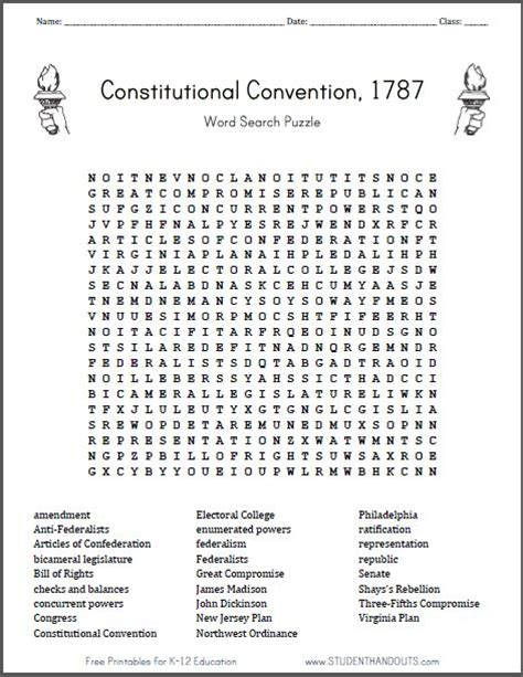 8th grade word search puzzles constitutional convention word search puzzle free to