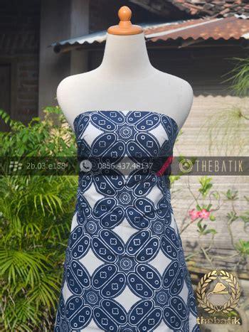 Blouse Batik Bolero Seling Cap jual kain batik bahan baju motif kawung biru dongker